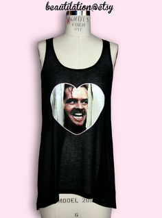 THE SHINING Long Semi-Sheer Tank. $30.00, via Etsy.