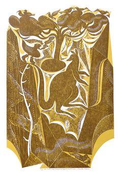 Duck & Kangaroo by Charles Shearer Collograph Collagraph Printmaking, Royal College Of Art, Art Prints For Sale, Wood Engraving, Limited Edition Prints, Kangaroo, Animal Print Rug, Screen Printing, Gcse Art