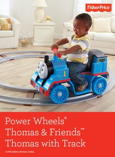 Fisher-Price® brings the excitement of Power Wheels® indoors! Younger drivers can take a ride with Thomas around 15 feet of track! Then, when they're ready to steer, simply take the train off the track for limitless adventures!   Ages:  12-36 months.