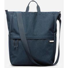 Everlane Men's Street Nylon Travel Tote Bag ($38) ❤ liked on Polyvore featuring men's fashion, men's bags, navy, travel tote bags, blue purse, tote purses, navy blue tote and nylon tote bags