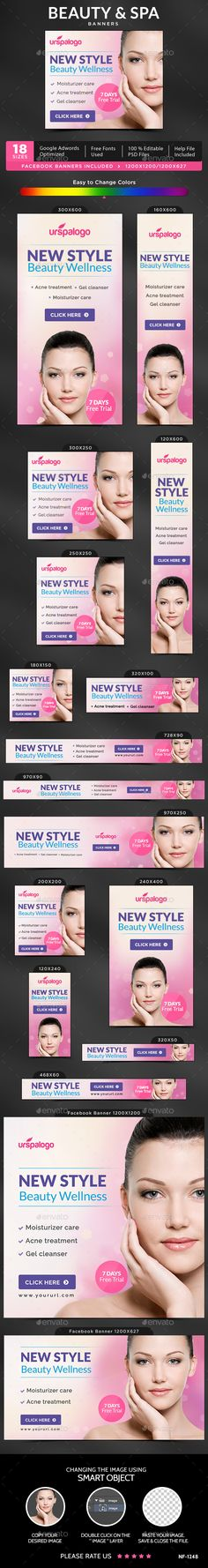 Beauty & Spa Banners Template PSD. Download here: http://graphicriver.net/item/beauty-spa-banners/15865934?ref=ksioks