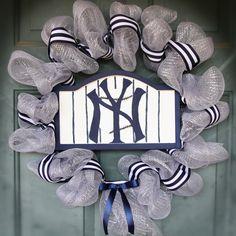 NY Yankees Spirit Wreath I made!