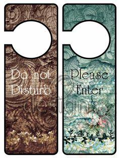 Odesigns Studio: Free Monday Printable Door Hanger