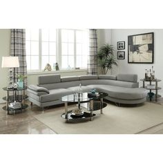 The future meets the present with this luxurious 2-piece sectional covered in a smooth texture with wide seating and armrest. Each back panel is adjustable for comfort and style. When you face to this sofa set, the chaise is on the right side. When you sit on this sofa set, the chaise is at left-handed position.