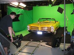 Snoop's Lakersmobile on set at Loyal Studios