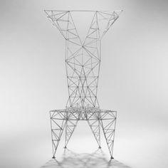 TOM DIXON Pylon chair Cappellini United Kingdom/Italy, 1992 enameled steel 23 w x 22 d x 50 h inches
