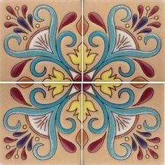 Prima (Raised Relief) Mexican Tile - Primavera