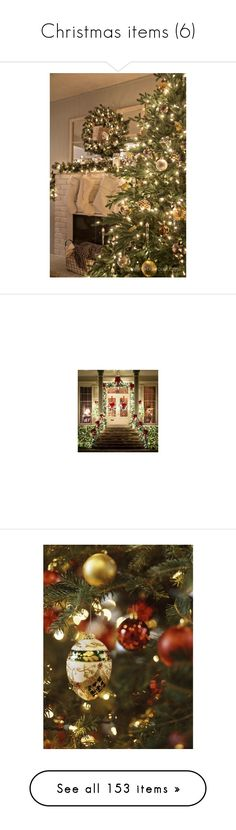 """""""Christmas items (6)"""" by asia-12 ❤ liked on Polyvore featuring home, home decor, holiday decorations, rustic holiday decor, rustic home decor, rustic home accessories, metallic home decor, christmas home decor, christmas and pictures"""