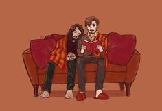 Harry Potter Draco Malfoy, Harry Potter Ships, Harry Potter Anime, Harry Potter Fandom, Harry Potter World, Remus And Sirius, Remus Lupin, Sirius Black, Marauders Fan Art