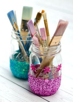 Glitter Mason Jar Cr