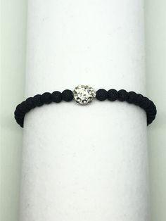 Armband aus imitiertem Vulkanstein Bracelets, Jewelry, Fashion, Stone Bracelet, Feathers, Stones, Moda, Jewlery, Bijoux