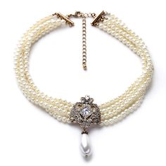 Cheap fashion jewelry, Buy Quality jewelry fashion directly from China fashion choker Suppliers: 2016 Party Dazzle Noble Multilayer Beads Chain Romantic Choker Necklace Simulated Pearl Necklace Fashion Jewelry Pearl Necklace Price, Pearl Choker Necklace, Necklace Types, Beaded Necklace, Pendant Necklace, Collar Necklace, White Pearl Necklace, Layer Necklace, Choker Necklaces