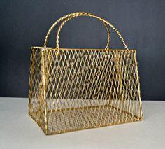 Wire form LADIES PURSE Centerpiece, Gold Purse Party Centerpiece, Gold Pocketbook Bridal Shower, Wedding,Gold Flower Girl Bag by MoreFriendsAndCo on Etsy
