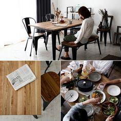 ダイニング5点セット ダイニングテーブルセット 食卓 木製 evp。【送料無料】 着後レビュで今治タオルGET! ダイニングテーブル ダイニング5点セット 140cm幅 ダイニングセット 5点 4点 ダイニングベンチ ベンチ ダイニング セット テーブル チェア 木製 天然木 おしゃれ 食卓 食卓テーブル 食卓セット 送料込 Apartment Goals, Table Settings, Room, Furniture, Home Decor, Black, Products, Bedroom, Rum