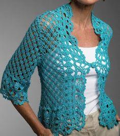 Free Crochet Pattern: Turquoise jacket