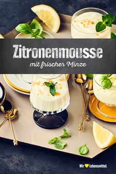 lemon mousse - Would you like a refreshing dessert for summer? Our recipe for homemade lemon mousse is very simple - Refreshing Desserts, Fun Desserts, Delicious Desserts, Dessert Recipes, Yummy Food, Mousse Dessert, Lemon Mousse, Food Humor, Cheesecake Recipes