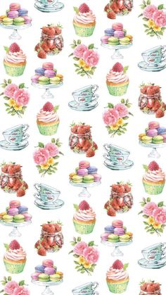 Flower Wallpaper, Wallpaper Backgrounds, Iphone Wallpaper, Theme Background, Cupcake Art, Paper Tags, Fruit Art, Tampons, Printable Stickers