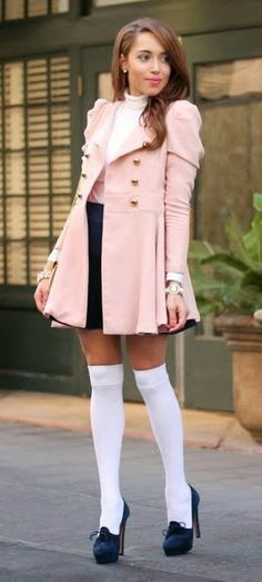 Pink Over The Knee Jacket / Best LoLus Street Fashion