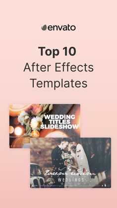 Want to highlight the best moments from your special day? Head to our blog for our list of the best Wedding Slideshow Templates for After Effects.