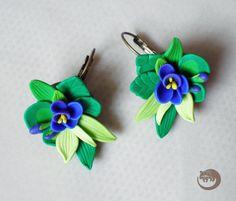 Night flowers earrings by BinturongJewelry on Etsy