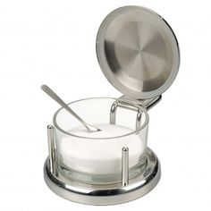 Stainless Steel Salt Server With Spoon