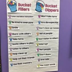 Launch character education and kindness with Bucket filling. This pack has lesson plans, anchor charts and an interactive bucket filling display that your students will use to fill each others buckets. Bucket Filling Classroom, Bucket Filling Activities, Kindness Activities, Preschool Activities, Physical Activities, Bucket Filler Display, Preschool Friendship, Friendship Activities, Elementary Counseling