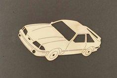 années 1990 MUSTANG voiture Sticker bois de par ChildersWoodWorks