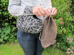 Knitting bag by GreenGablesGallery on Etsy