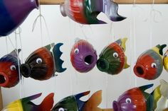 plastic bottle fish: