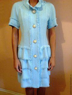 Платья ручной работы. Ярмарка Мастеров - ручная работа. Купить Одежда.Платье Голубое.. Handmade. Голубой, летнее платье