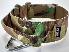 Tactical military dog collar with handle - Multicam 50mm/ 2inch (Texcel), COBRA buckle