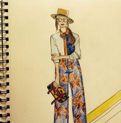 Sketching random from #MFW #ss15