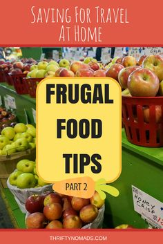 Hungry for more travel savings? Here's plenty more practical tips to cut your food costs and grow your travel funds FASTER! www.thriftynomads.coms
