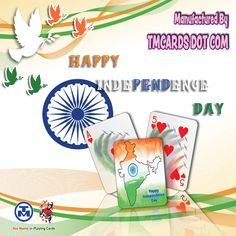Our fine-tuned processes and printing capabilities come from over 45 years of experience making custom playing cards and personalized playing cards. Personalized Playing Cards, Custom Playing Cards, Happy Independence Day India, Poker, Card Games, Create Yourself, Freedom, Bridge, Dots