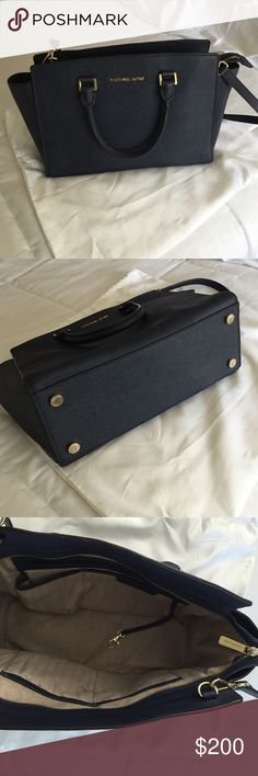 "Michael Kors Bag No trade, great conditions, navy blue, adjustable strap, zipper fastening, dust bag, 13 x 8 x 4"" Michael Kors Bags Satchels"