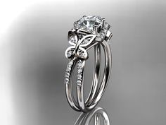 platinum diamond butterfly wedding ringengagement by anjaysdesigns, $2350.00 , engagemnt ring