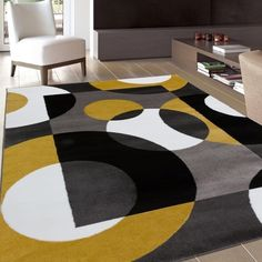 Invigorate a beautiful and stylish accent to any room in your home by choosing this World Rug Gallery Modern Circles Blue Indoor Area Rug. Circle Rug, Rectangular Rugs, Online Home Decor Stores, Online Shopping, Home Decor Outlet, Blue Area Rugs, Blue Rugs, Rug Size, Size 2