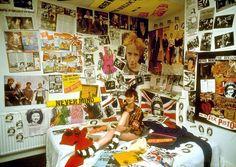 GREAT SHOES! A Sex Pistols fan in her bedroom,1979