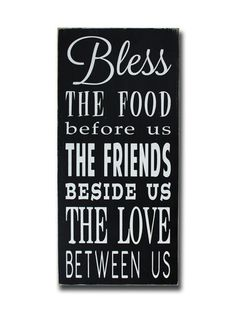 food friends love, sign, - Barn Owl Primitives, vintage wood signs, typography decor,