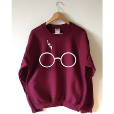 HARRY POTTER INSPIRED GLASSES AND LIGHTNING SWEATSHIRT SCREEN PRINTED FOR A SUPERIOR RETAIL QUALITY FINISH Available in Unisex super soft Sweatshirts in a choi…