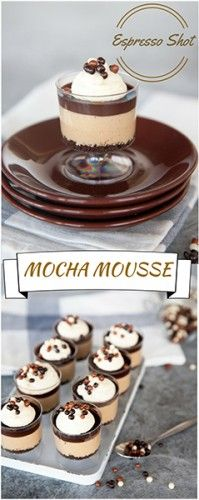 Easy Chocolate Mocha Mousse Cake Recipe - Simple and Elegant! Great for a cocktail party. #mousse #dessert #chocolate