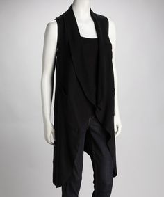Take a look at this Black New Ponte Vest by Fall for Fashion: Women's Trends on #zulily today!