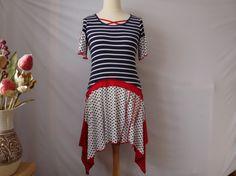 Upcycled womens clothing upcycled boho dress tunic by BosaHandmade