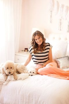 Catherine Sheppard of The Life Styled + her precious pooches. via @Glitter Guide