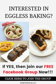 Eggless Baking For Beginners has 623 members. Interested in learning baking? Want to bake cakes that tastes just like the one bought from a bakery? Healthy Cake Recipes, Baking Recipes, Dessert Recipes, Desserts, Yummy Recipes, Wheat Cake Recipe, Whole Wheat Carrot Cake, Eggless Marble Cake, Banana Chocolate Chip Muffins