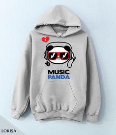 I love Music Panda K-Pop KPop Hoodie/Crewneck by LokisaFashion