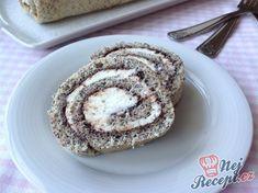 Kombinace tvarohu, máku a povidel asi nikoho z nás nepřekvapí, typická je především u kynutých koláčů nebo buchet. Během pár minut máte upečeno, namazáno, srolováno a po krátkém chlazení už můžete krájet. Autor: Mila Tiramisu, Pancakes, Muffin, Gluten Free, Cookies, Breakfast, Sweet, Desserts, Recipes