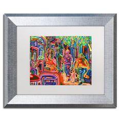 "Trademark Art 'Folk' Framed Graphic Art Print Size: 11"" H x 14"" W x 0.5"" D, Mat Color: White"