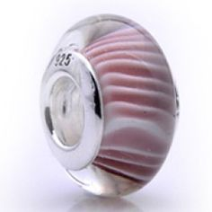 Silver and Murano Pink Flowers Glass  Beads  Fit pandora,trollbeads,chamilia,biagi and any customized bracelet/necklaces. #Jewelry #Fashion #Silver# handcraft #DIY #Accessory