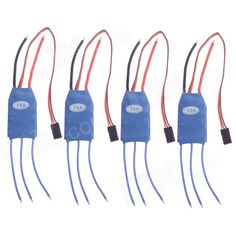 15A ESC Speed Controller 2-4S for RC Mini Quadcopters - Blue (4 PCS). Weight: 20g/pcs; Dimension: 50x25x8mm (cable not included); Input voltage: 2-4S; Continuous current: 15A; BEC output: 5V 2A; Frequency compatible: 30Hz~499Hz.. Tags: #Hobbies #Toys #R/C #Toys #Other #Accessories
